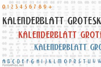 Kalenderblatt Grotesk Font