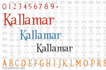 Kallamar Font