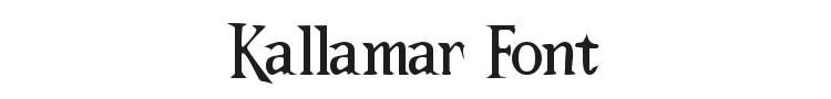 Kallamar Font Preview