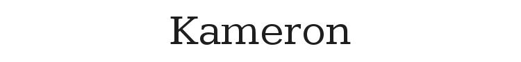 Kameron Font Preview
