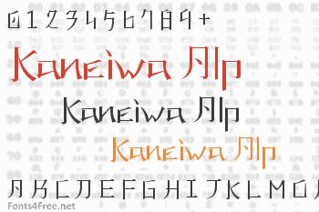 Kaneiwa Alp Font