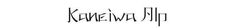 Kaneiwa Alp Font Preview