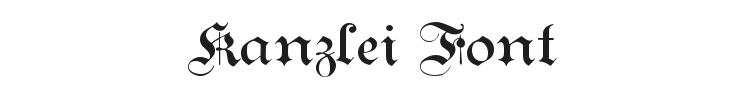 Kanzlei Font Preview