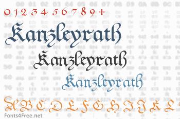 Kanzleyrath Font