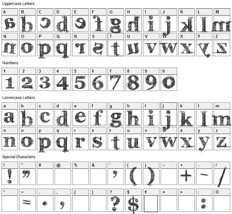 Karabine Font Character Map