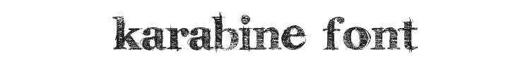 Karabine Font Preview