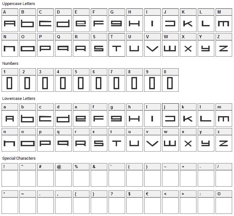 Karelia Font Character Map
