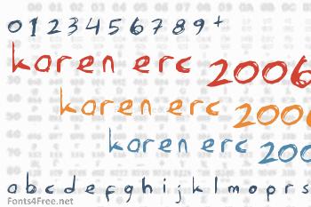 Karen Erc 2006 Font