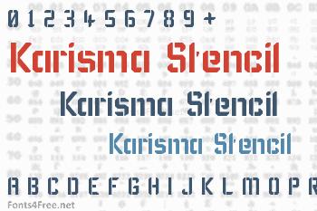 Karisma Stencil Font