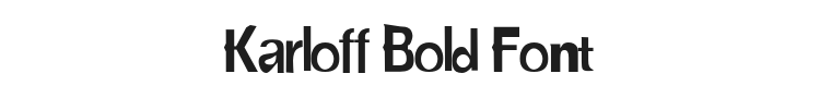 Karloff Bold Font