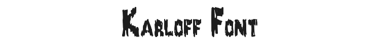Karloff Font Preview