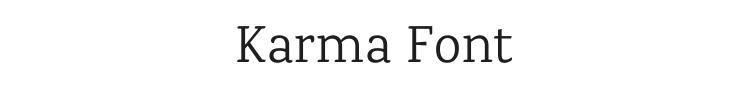 Karma Font Preview