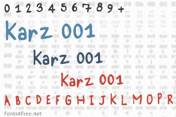 Karz 001 Font