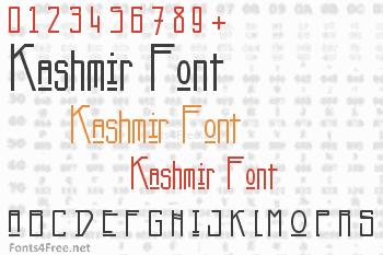 Kashmir Font