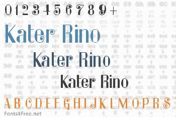 Kater Rino Font