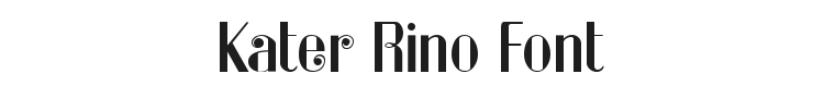 Kater Rino Font Preview