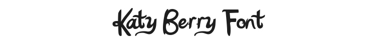 Katy Berry Font Preview
