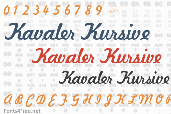 Kavaler Kursive Font