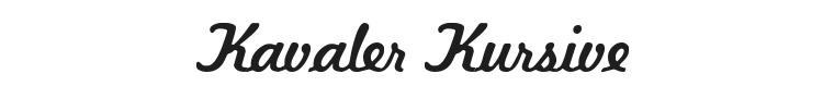 Kavaler Kursive Font Preview