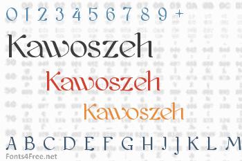 Kawoszeh Font