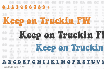 Keep on Truckin FW Font