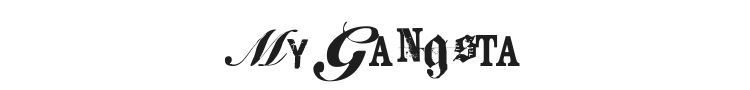 Keetano ATL My Gangsta Font Preview