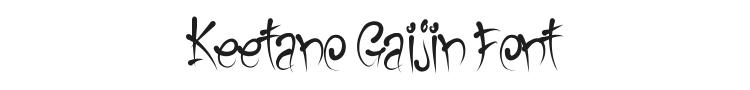 Keetano Gaijin Font Preview