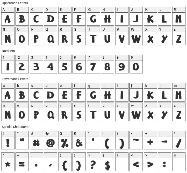 Keiser Sousa Font Character Map