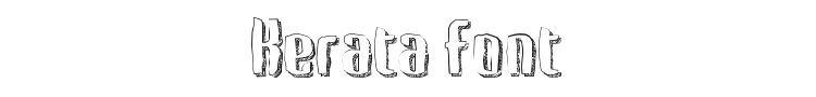 Kerata Font Preview