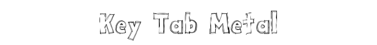 Key Tab Metal Font Preview