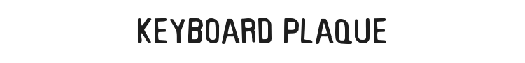 Keyboard Plaque Font