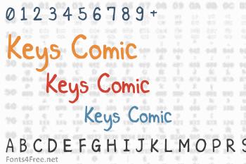 Keys Comic Font