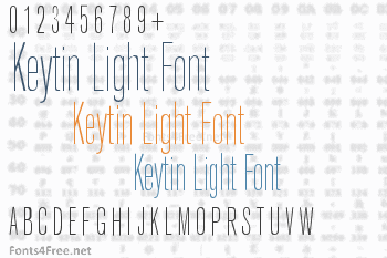 Keytin Light Font