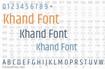 Khand Font