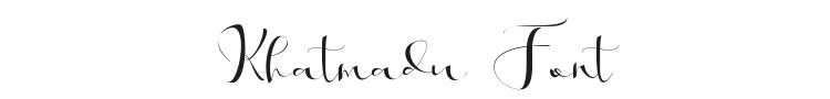 Khatmadu Font Preview