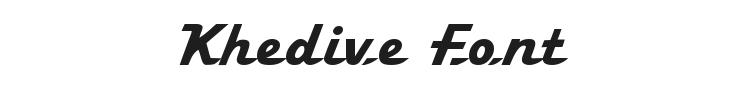 Khedive Font Preview