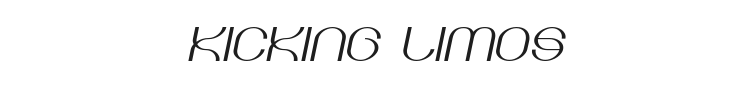 Kicking Limos Font Preview