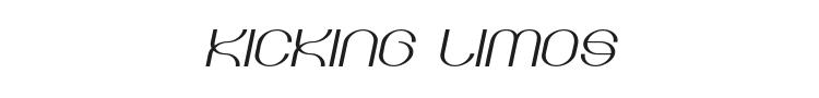 Kicking Limos Font Preview