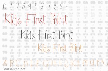 Kids First Print Font
