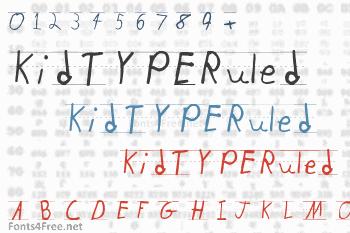 KidTYPERuled Font