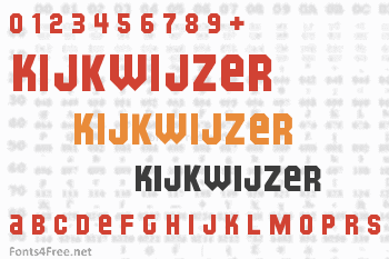 Kijkwijzer Font