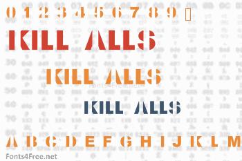 Kill All Fonts Font