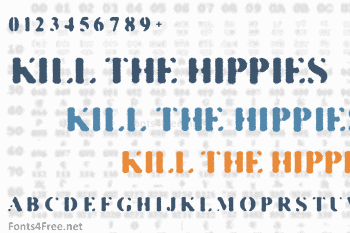 Kill The Hippies Font