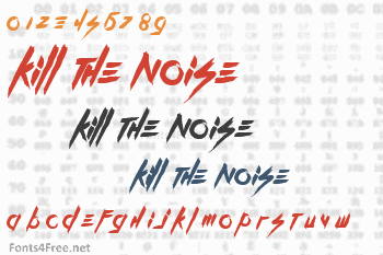 Kill The Noise Font