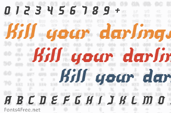 Kill your darlings Font
