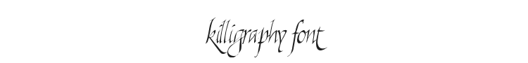 Killigraphy Font Preview