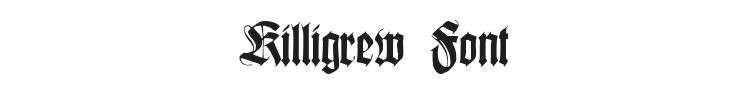 Killigrew Font
