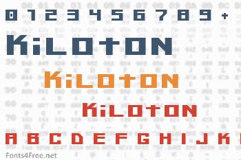 Kiloton Font