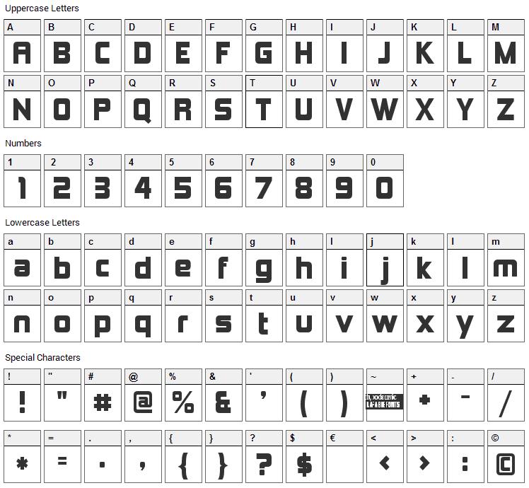 Kimberley Font Character Map