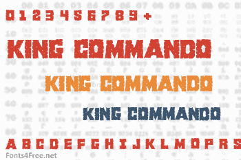 King Commando Font